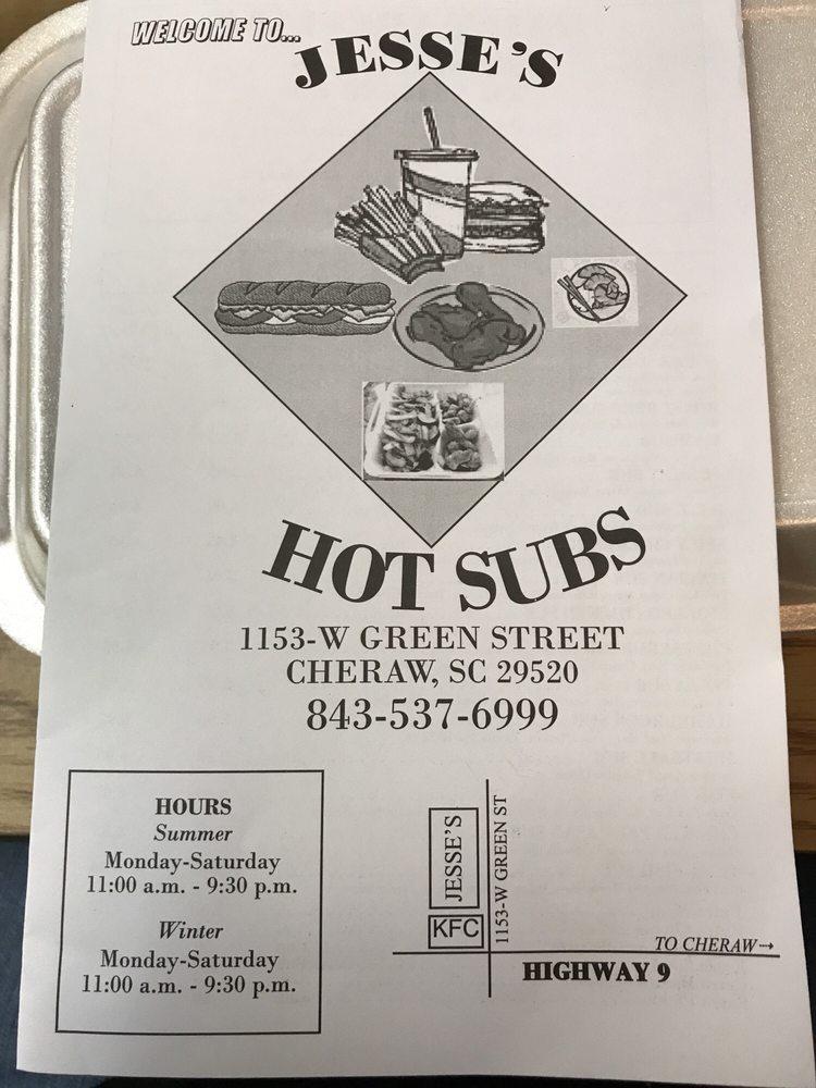 Jesse's Subs: 1153 W Greene St, Cheraw, SC