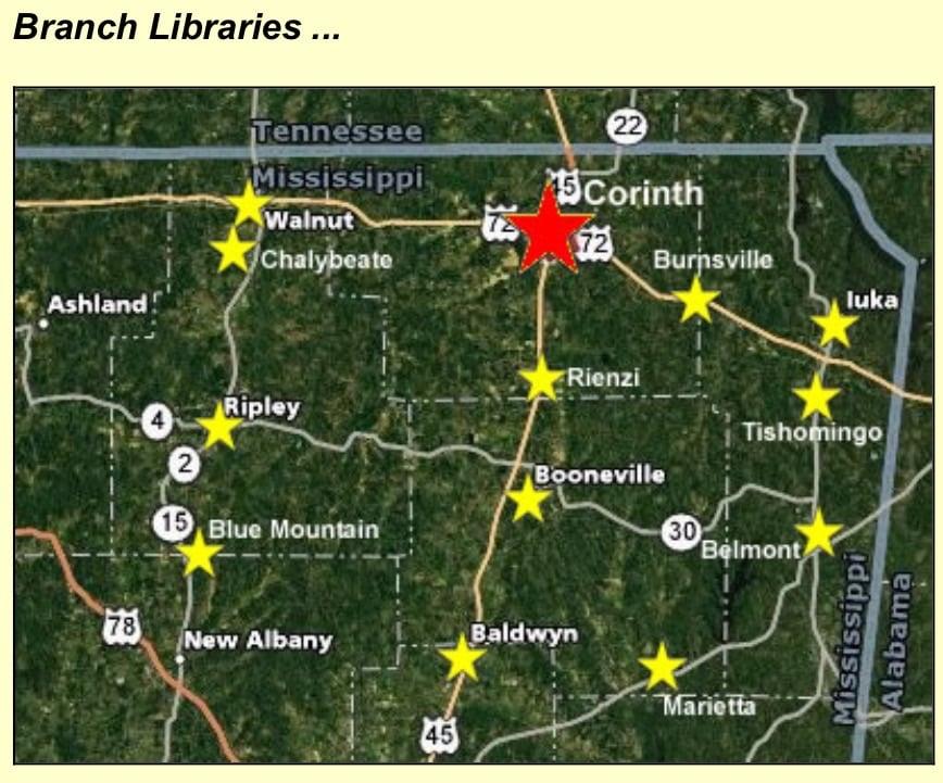 Ripley Public Library: 308 N Commerce St, Ripley, MS
