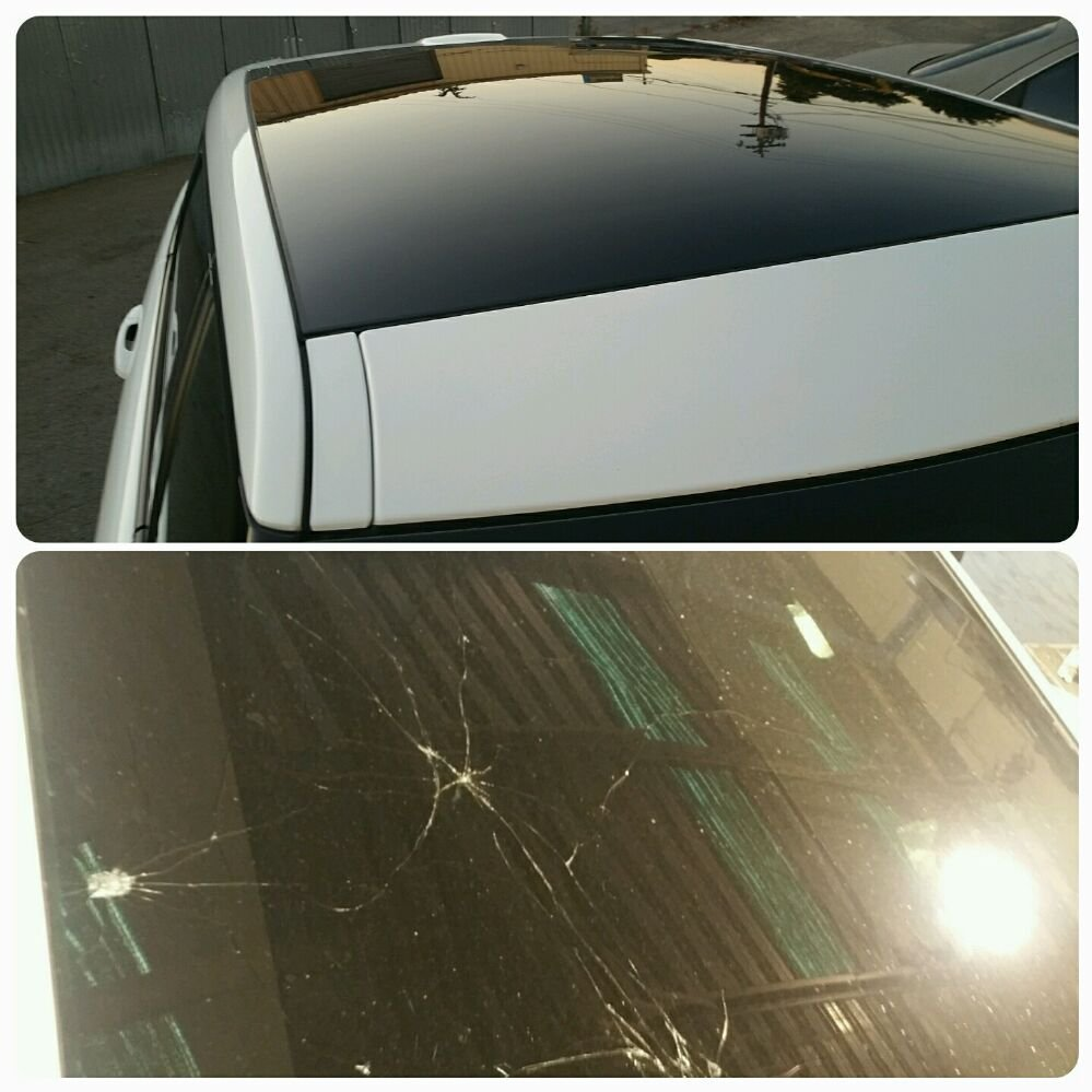 Land Rover Evoke Roof Glass Replacement. Insurance Claim