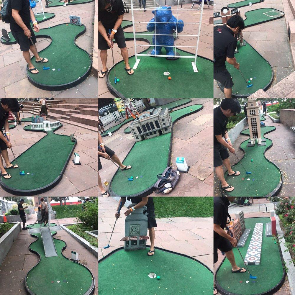 Free mini golf through landmarks of Denver, very cool! - Yelp