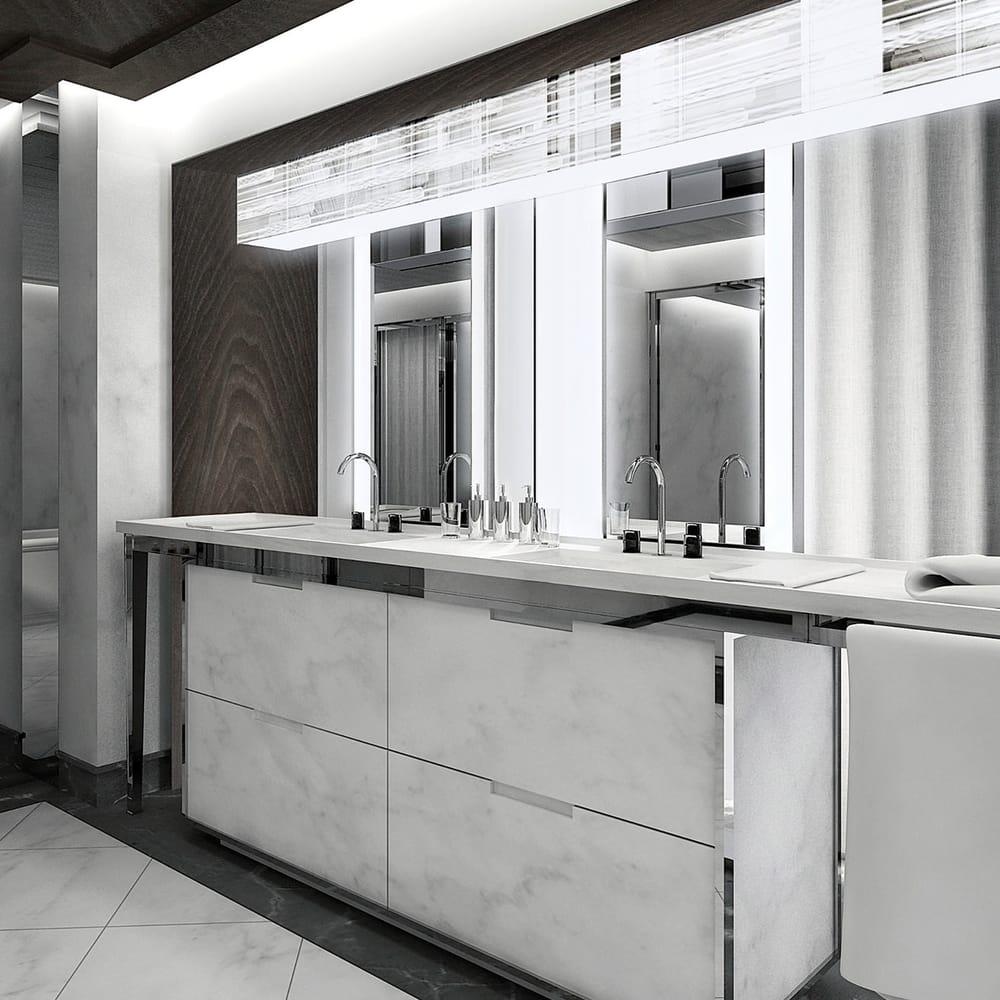 Baccarat hotel residences new york bathroom yelp for Bathroom decor nyc