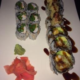 Murasaki - Cape May Court House, NJ, United States. Asahi roll - shrimp, asparagus, caviar, spicy mayo + shrimp tempura roll
