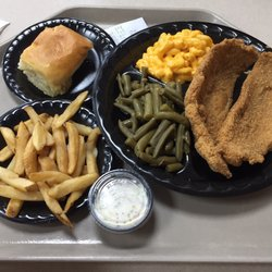 Photo Of Grandy S Arlington Tx United States Catfish Plate With Macaroni And