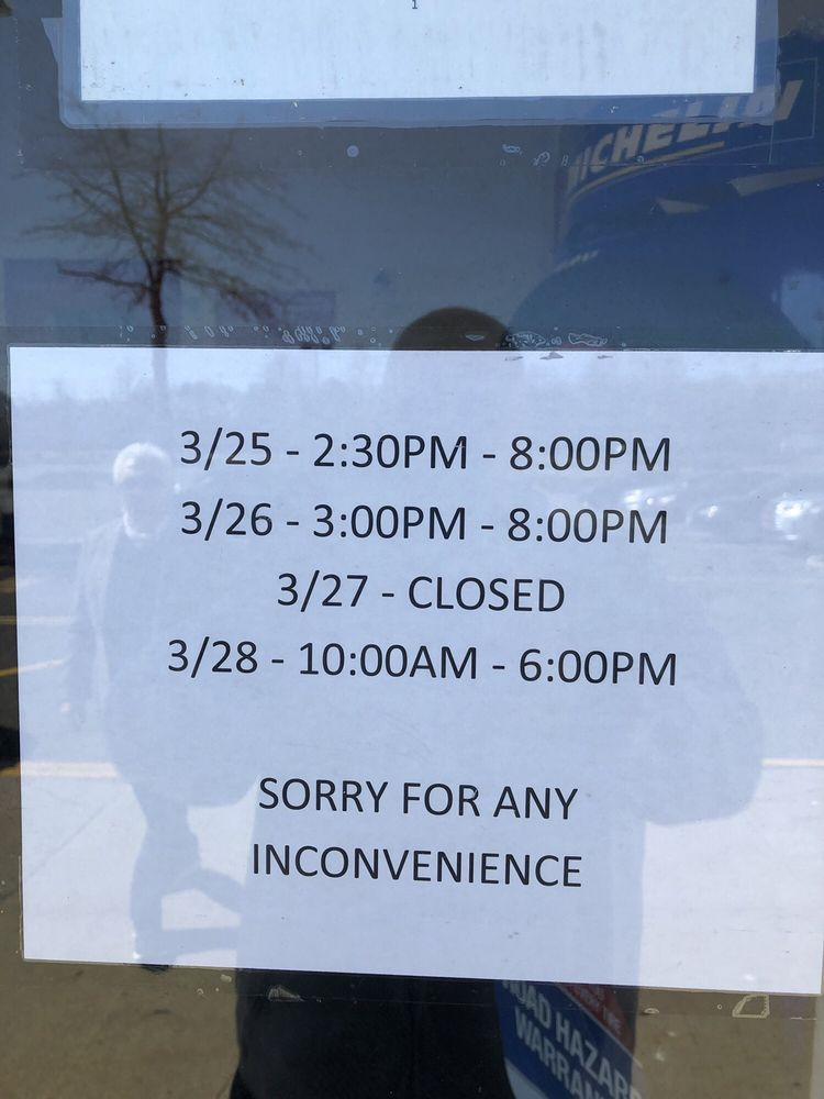 Not cool, no propane today because of limited hours and limited auto