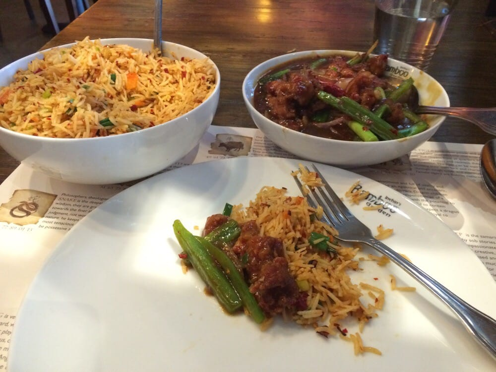 Chili chicken and szechuan rice vegetarian yelp for Inchin s bamboo garden sunnyvale