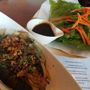 Maple Leaf Duck Confit Lettuce Wrap with Fresh Basil