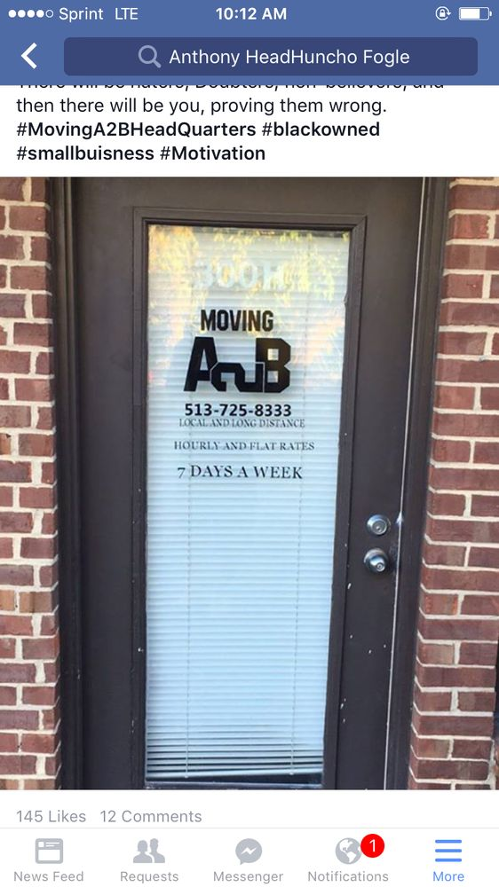 Moving A2B: 300 Commercial Dr, Fairfield, OH