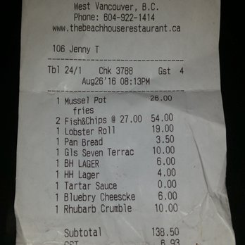 Beach House Restaurant West Vancouver Reviews