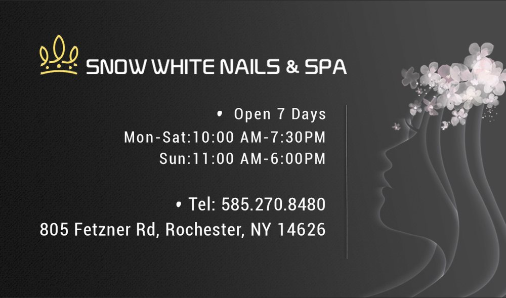 Snow White Nails & Spa: 805 Fetzner Rd, Rochester, NY