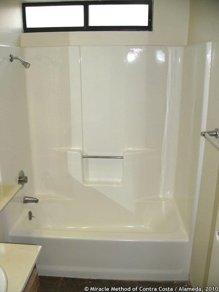 Fiberglass Tubshower Unit In Gloss White Yelp - Can you refinish a fiberglass tub