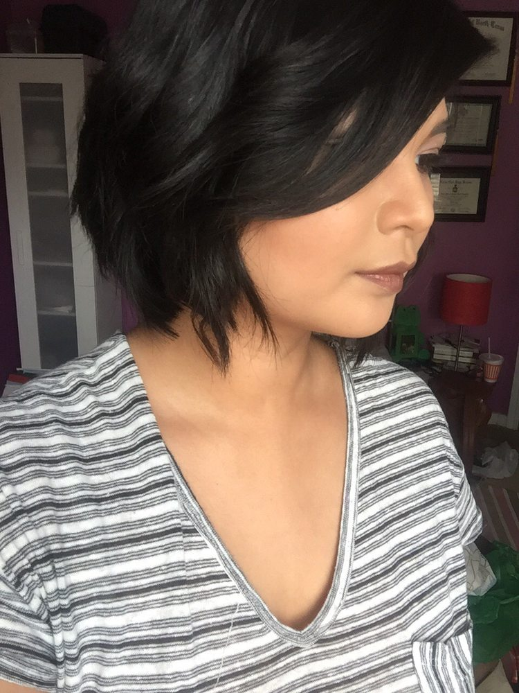 Angled Bob Short In The Back Long In The Front Done By Liz Love