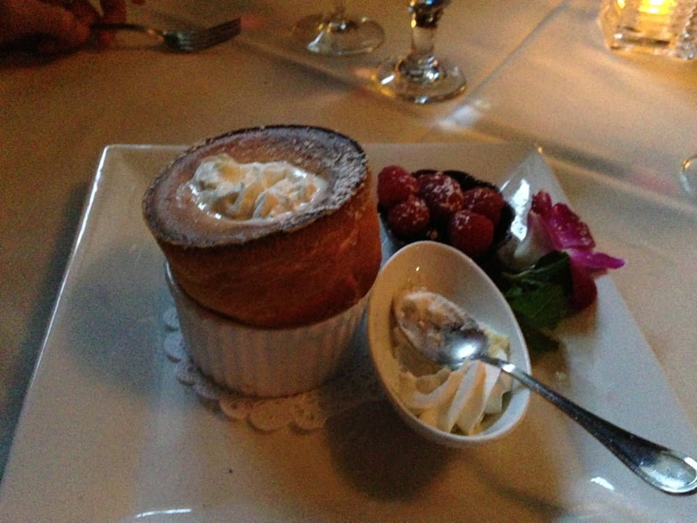 ... Dessert special of the day- white chocolate soufflé, super delicious