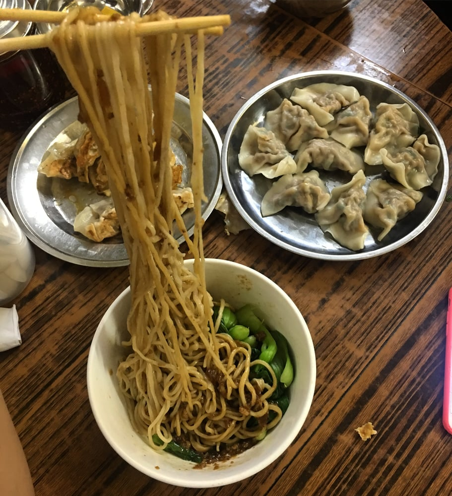 lan zhou handmade noodle noodle with minced pork sauce and dumplings yelp 7612