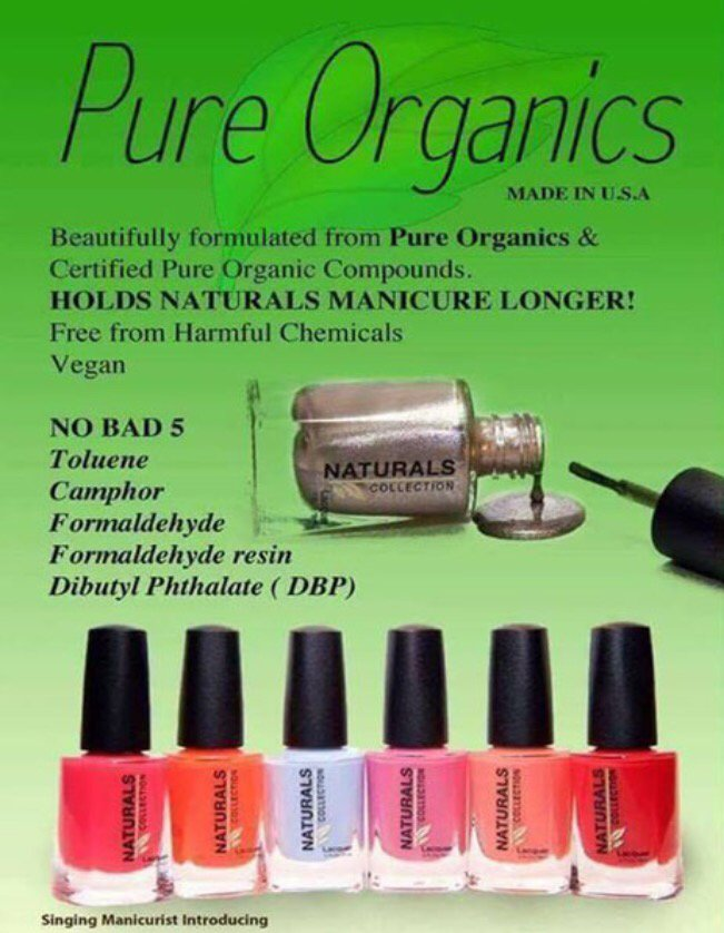 Organic Nail Polish. No harmful Chemicals (Formaldehyde ...