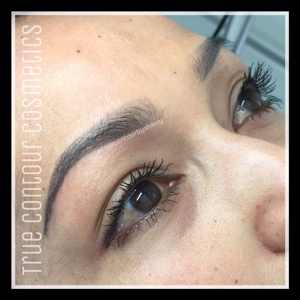 Healed Soft Ombr Powdered Brows San Diego Permanent Eyebrow Tattoo
