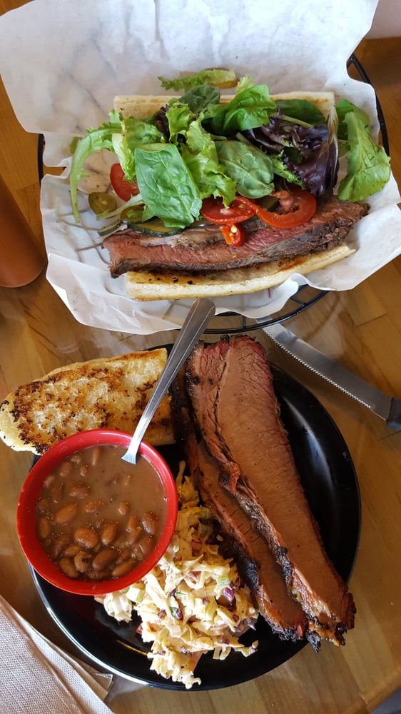 Butchers Kitchen Char B Que Reno : Brisket plate and tri tip sandwich. - Yelp