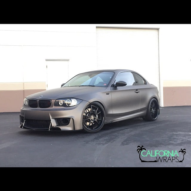 2008 BMW 135i Fully Wrapped In 3M Matte Charcoal Grey With