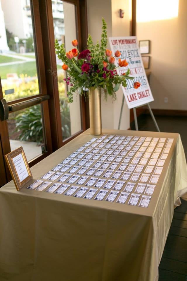 Leslie's high attention to detail. The escort cards are perfectly ...