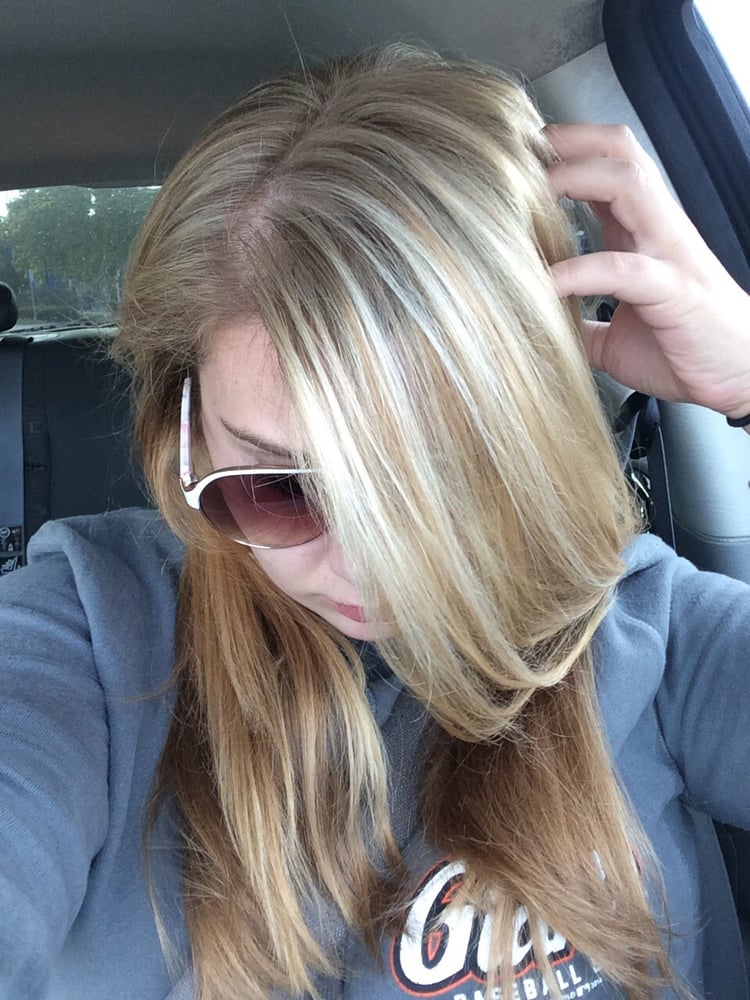 Root touch up and a few highlights sooooo amazing yelp photo of bella rose hair salon san carlos ca united states root pmusecretfo Gallery
