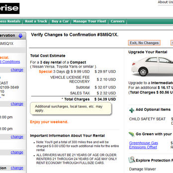 enterprise rental car receipt Enterprise Rent-A-Car - CLOSED - 12 Photos