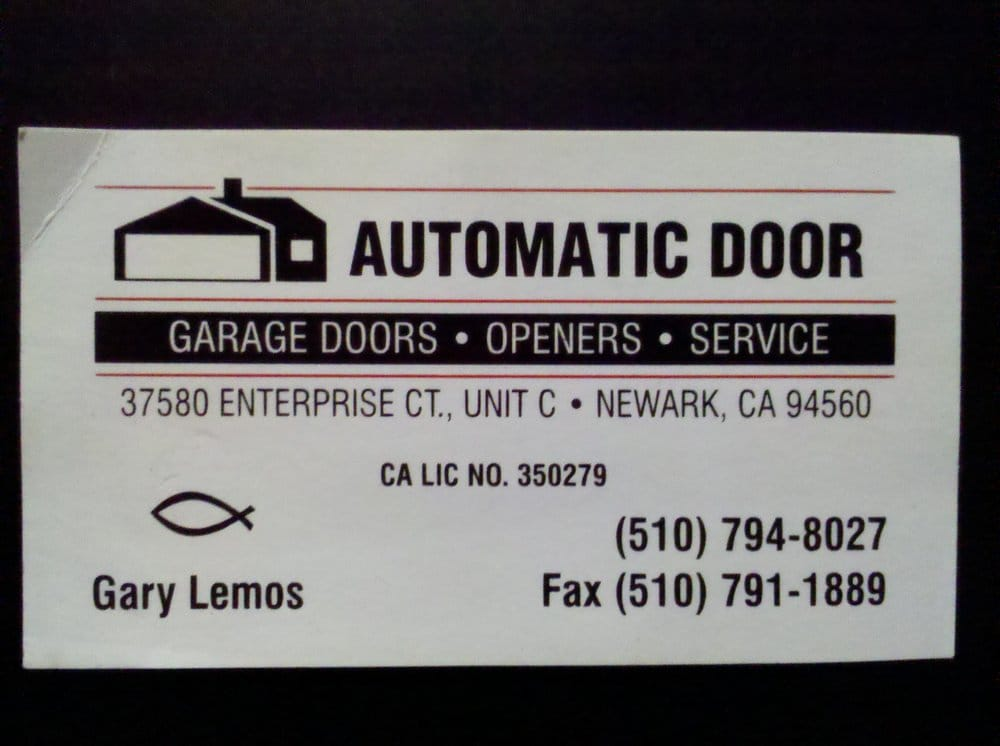 Photo Of Automatic Door   Garage Door Services   Newark, CA, United States.