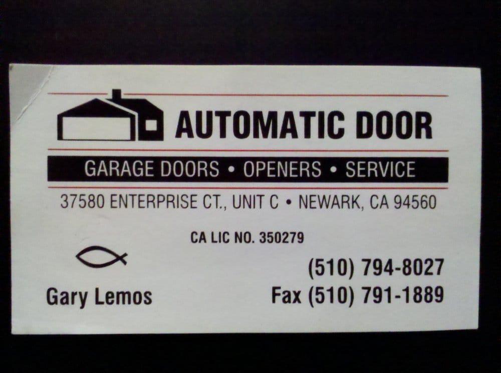 garage door repair companyBusiness Card for Garys garage door repair company   Yelp