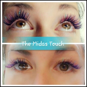ef5194a395c Photo of The Midas Touch - Woodland, CA, United States. Colorful sparkle  lashes