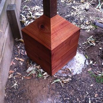 Redwood pier block/sonotube cement cover  - Yelp
