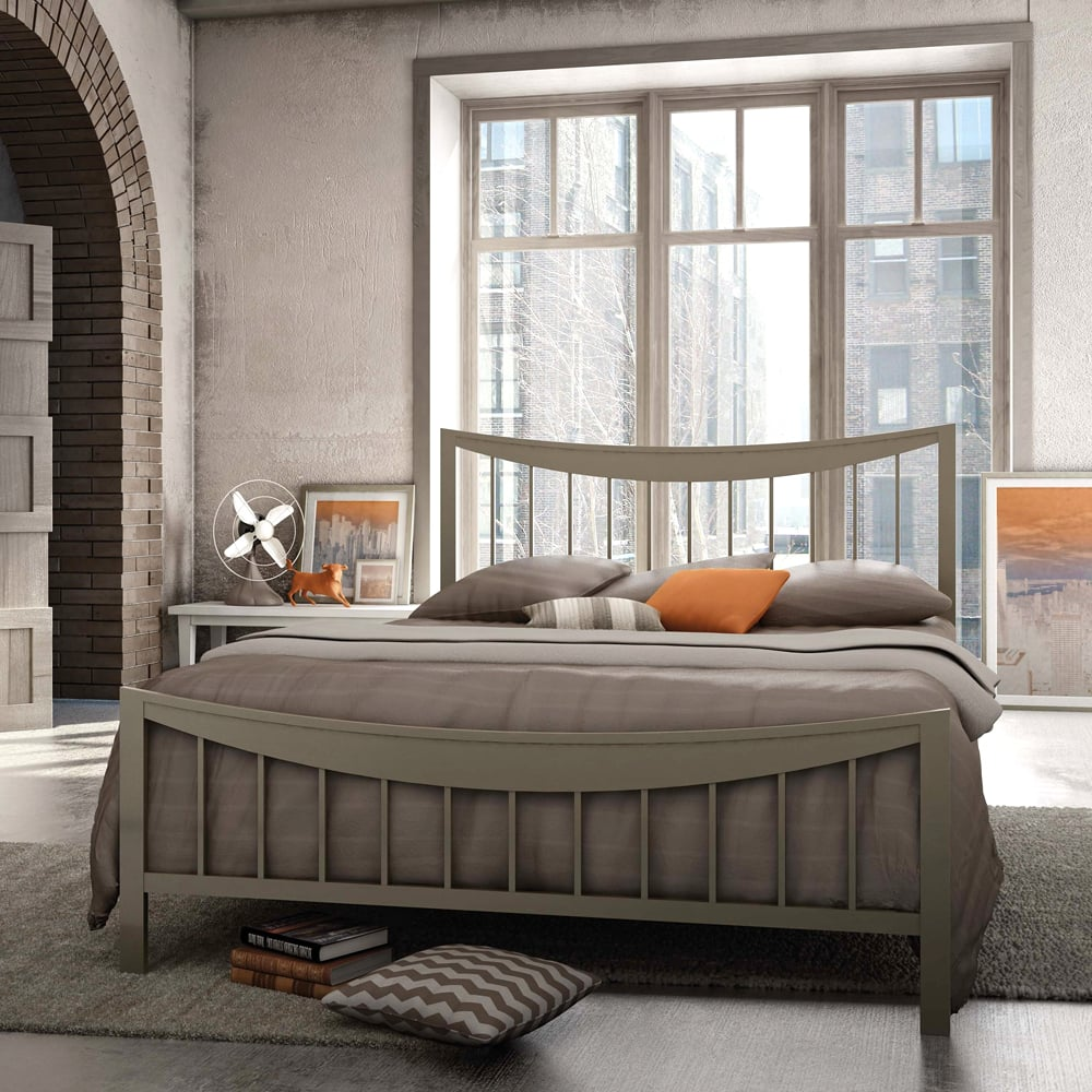 Metal bed with headboard and footboard available in many
