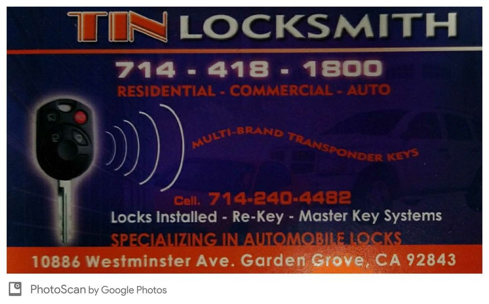 Tin Locksmiths 25 Photos 119 Reviews Keys 10886 Westminster Ave Garden Grove Ca Phone Number Yelp