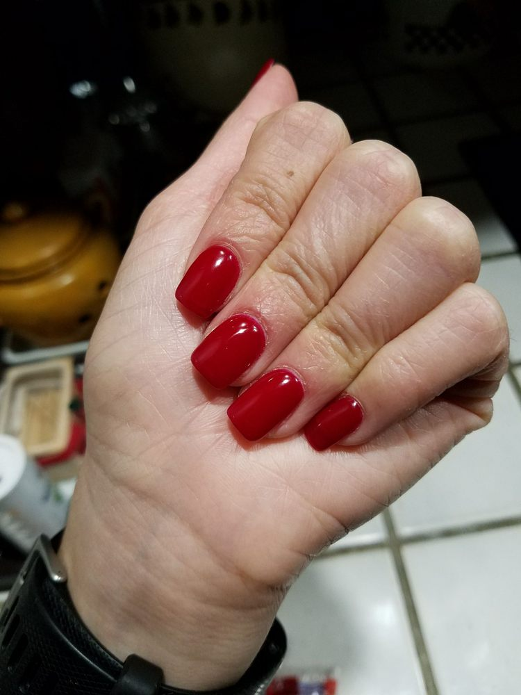 New photo... I went in and they fixed my nails, closer to my ...