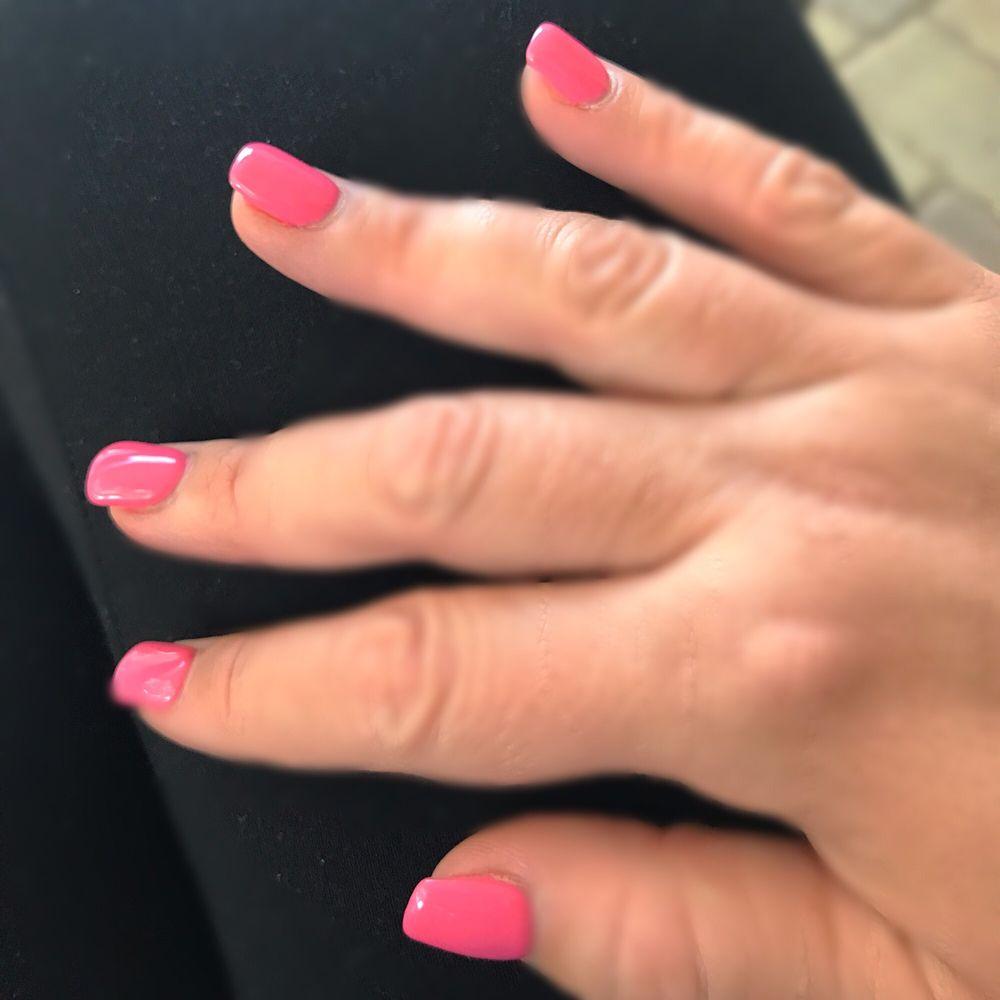 Pink summer nails! - Yelp