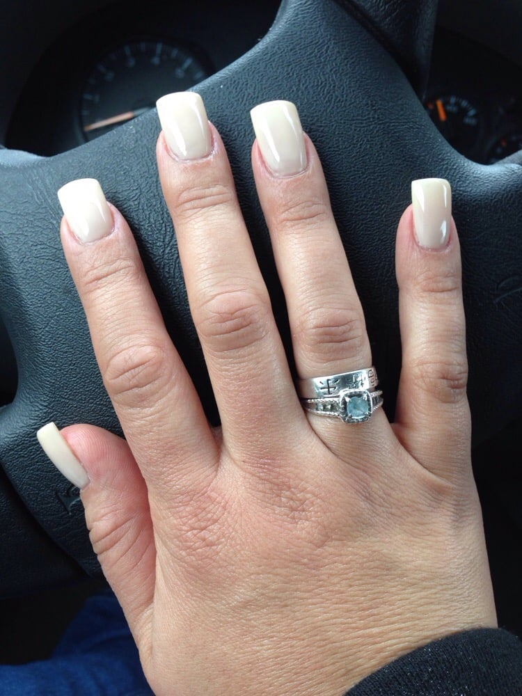 Neutral color love it square tips - Yelp