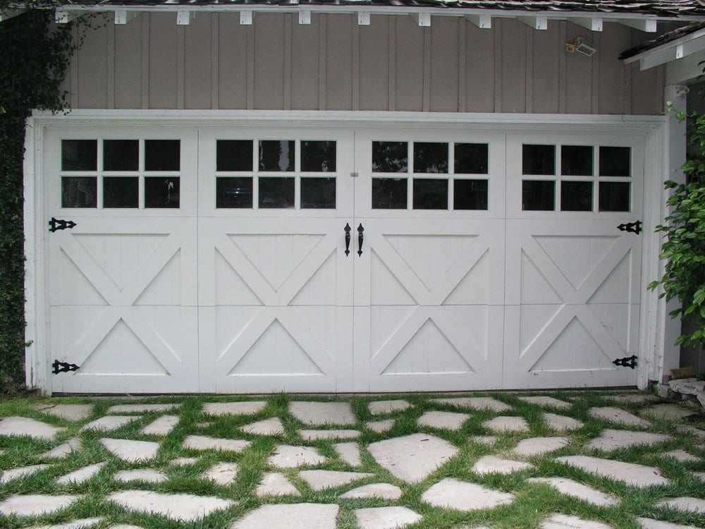 Painted Wood Carriage House Doors Look At That Driveway