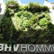 67fc4e406b4b PHOTO DU SITE Photo de BHV Marais - L Homme - Paris, France. Le mur végétal