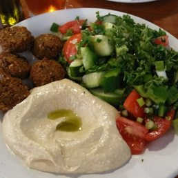 The Falafel Plate Comes With 5 Falafel Hummus And A