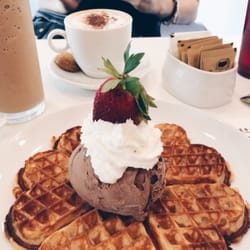 Ice Cream - Singapore, Singapore. Really good waffle and chocolate ...