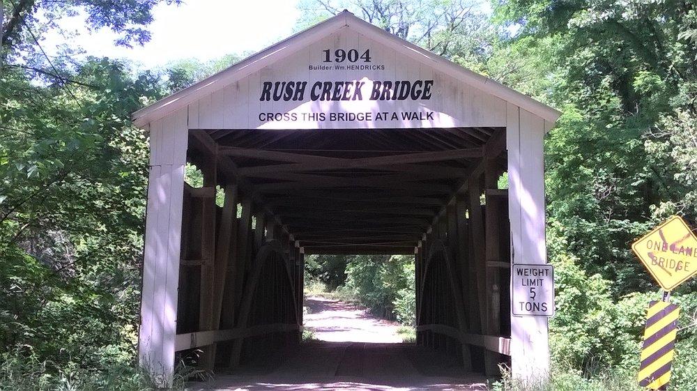 Rush Creek Covered Bridge: 3806 W 900N, Tangier, IN