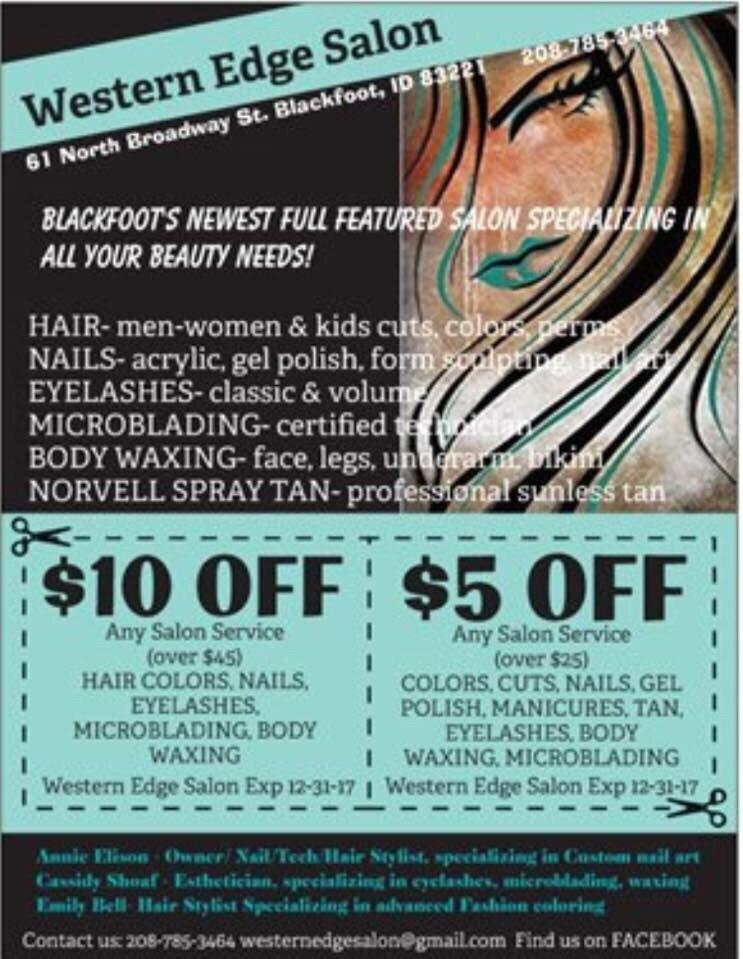 Western Edge Salon: 61 N Broadway St, Blackfoot, ID