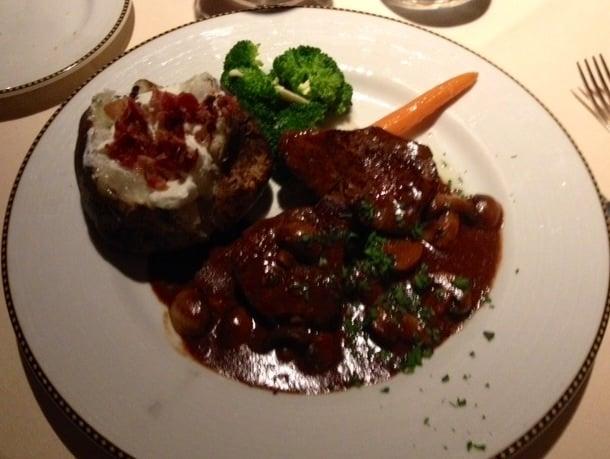 Steak Diane With Filet Mignon And Baked Potato Yelp