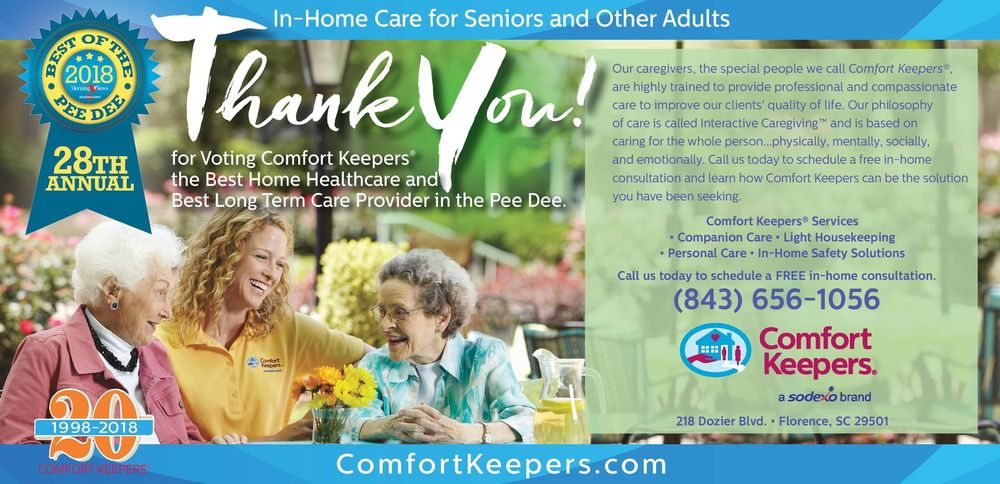 Comfort Keepers - Florence: 218 Dozier Blvd, Florence, SC