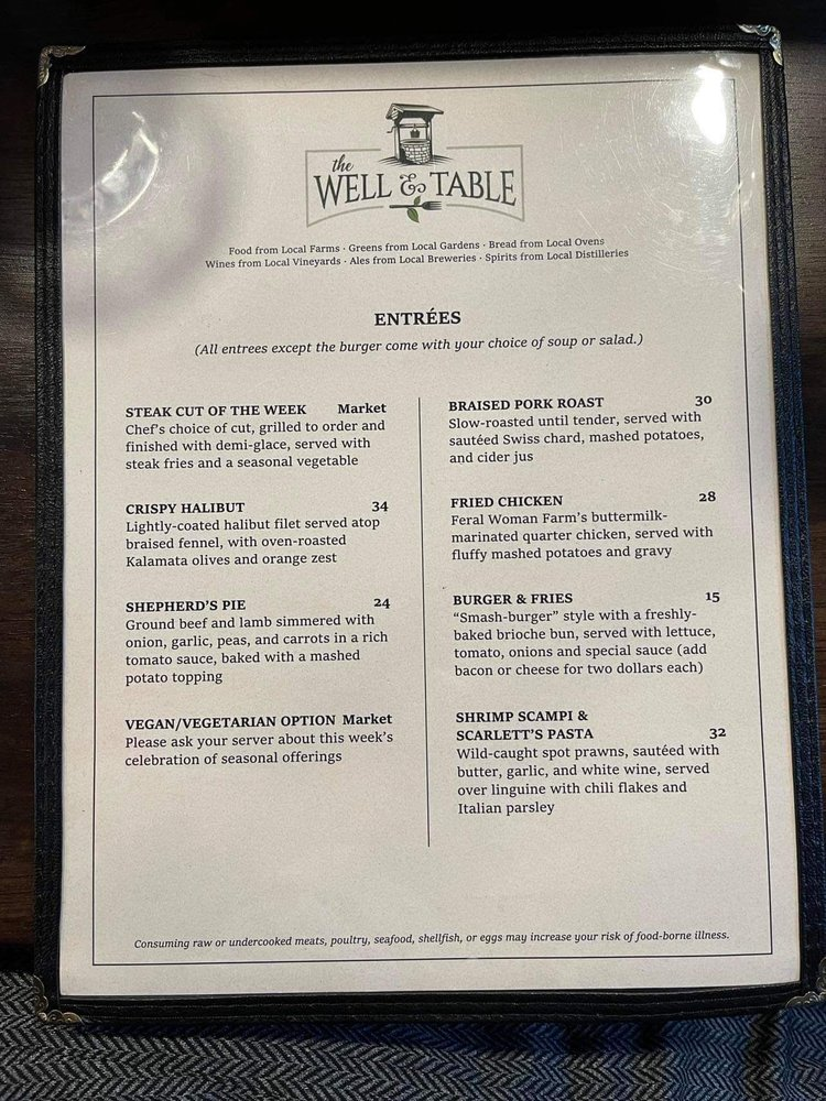 The Well and Table: 317 NW Gilman Blvd, Issaquah, WA