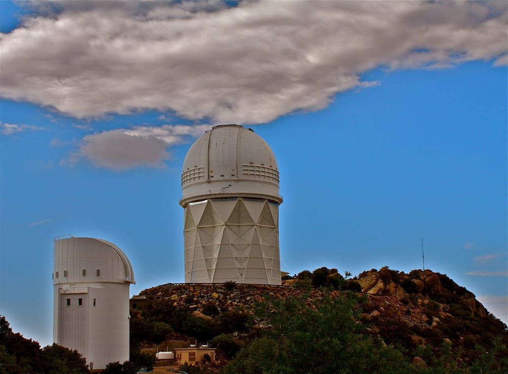 Bok And Mayall Telescopes At Kitt Peak National