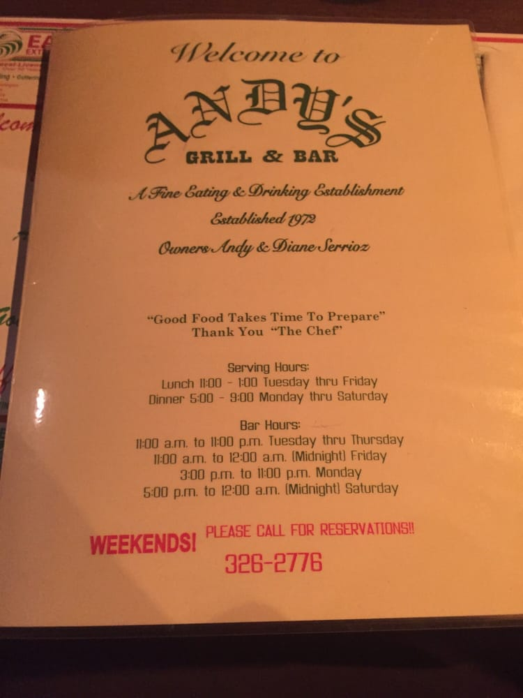Andy's Supper Club: 1604 N A St, Wellington, KS