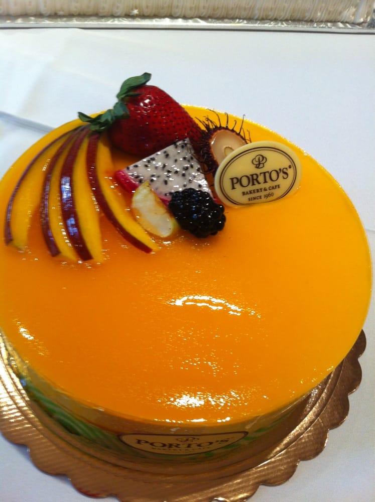 Mango Mousse Cake Porto S Bakery