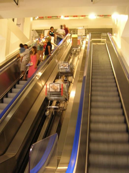 they 39 ve got an escalator for your carts yelp. Black Bedroom Furniture Sets. Home Design Ideas