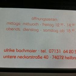 Restaurant Bachmaier Restaurants Untere Neckarstr 40 Heilbronn