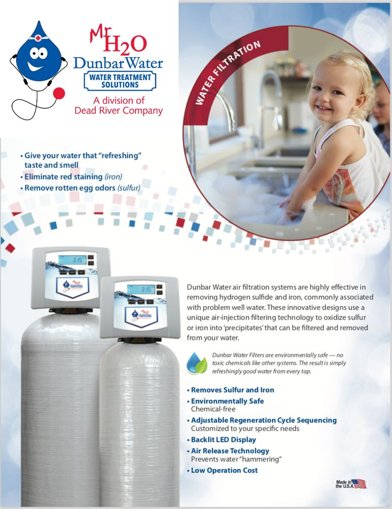 Dunbar Water Pumps & Filters - Water Purification Services