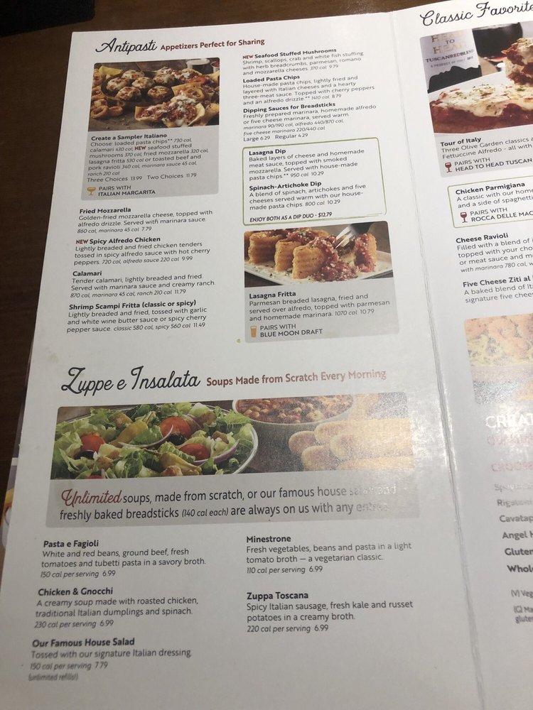 Online Menu Of Olive Garden Italian Restaurant Restaurant Chula