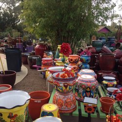 Photo Of Harlow Gardens   Tucson, AZ, United States. Great Pots And Lawn